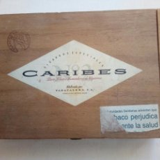 Cajas de Puros: ANTIGUA CAJA DE PUROS CARIBES VACIA. Lote 117992102