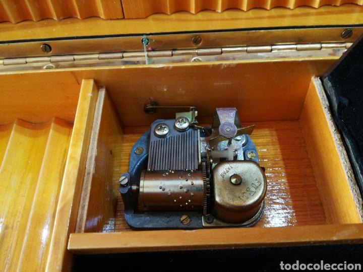 Cajas de Puros: Caja tabaquera de madera para puros cigarros forrada de piel Tapa con pelo y adorno de pipa. Musical - Foto 3 - 118380260