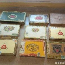 Cajas de Puros: ANTIGUO LOTE DE CAJAS DE PUROS VACÍAS. Lote 119098059