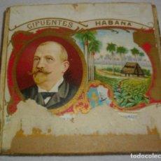 Cajas de Puros: CAJA DE PUROS HABANOS - CUBA MARCA CIFUENTES (VACIA) EPOCA -PRE/REVOLCION. Lote 119343123