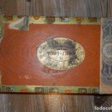 Cajas de Puros: CAJA DE PUROS DE MADERA -ROMEO Y JULIETA -ALVAREZ GARCÍA - HABANA - HABANOS - 14 X 24 X 3,5 CM. Lote 120236963