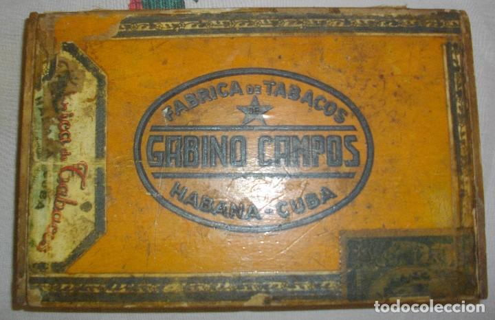 Cajas de Puros: CAJA DE PUROS HABANOS GABINO CAMPOS ( VACIA- COLCC) EPOCA - PRE/ REBOLC - Foto 2 - 120834743