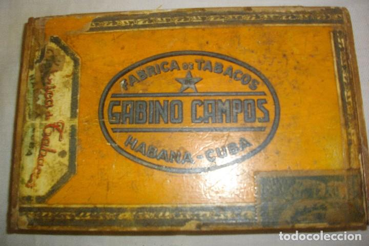 Cajas de Puros: CAJA DE PUROS HABANOS GABINO CAMPOS ( VACIA- COLCC) EPOCA - PRE/ REBOLC - Foto 6 - 120834743