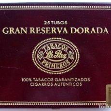 Cajas de Puros: CAJA PUROS. GRAN RESERVA DORADA. TABACOS LA PAZ. CONTIENE 7 PUROS. . Lote 121722555