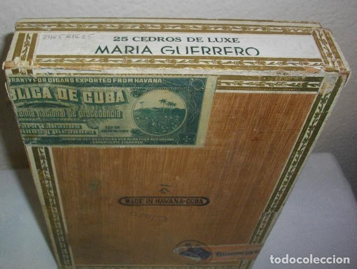 Cajas de Puros: ANTIGUA CAJA DE PUROS VACIA , MARIA GUERRERO,(( ÉPOCA PRE REVOLUCIÓN, CUBA)) - Foto 2 - 122248523