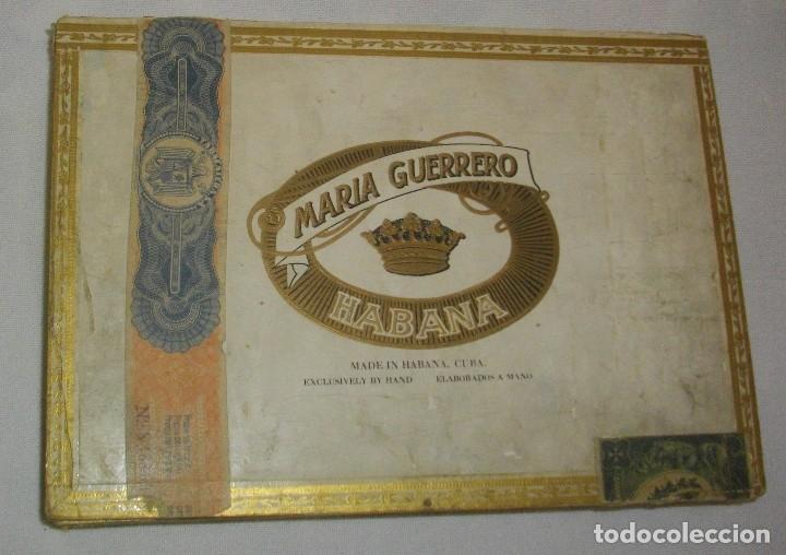 Cajas de Puros: ANTIGUA CAJA DE PUROS VACIA , MARIA GUERRERO,(( ÉPOCA PRE REVOLUCIÓN, CUBA)) - Foto 4 - 122248523