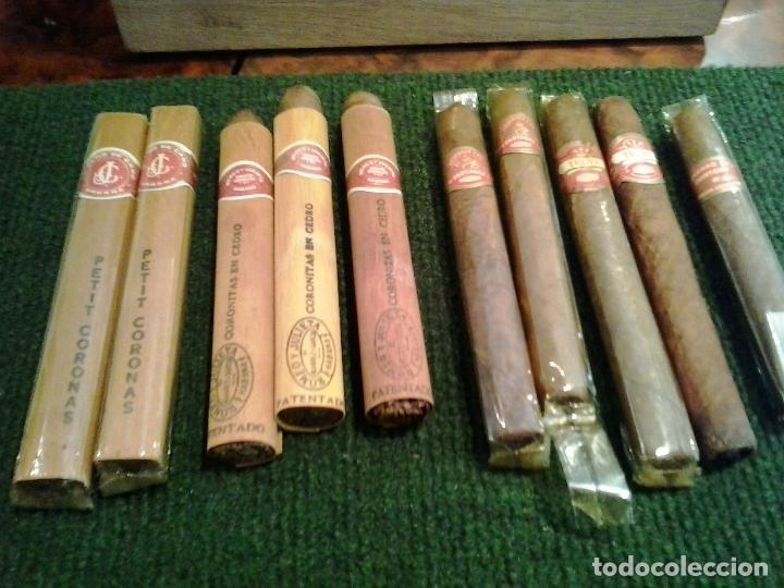 LOTE 10 PUROS ROMEO Y JULIETA ,PETIT CORONAS ,TROYA PARTAGAS CONCHA 1 QUINTERO (Coleccionismo - Objetos para Fumar - Cajas de Puros)