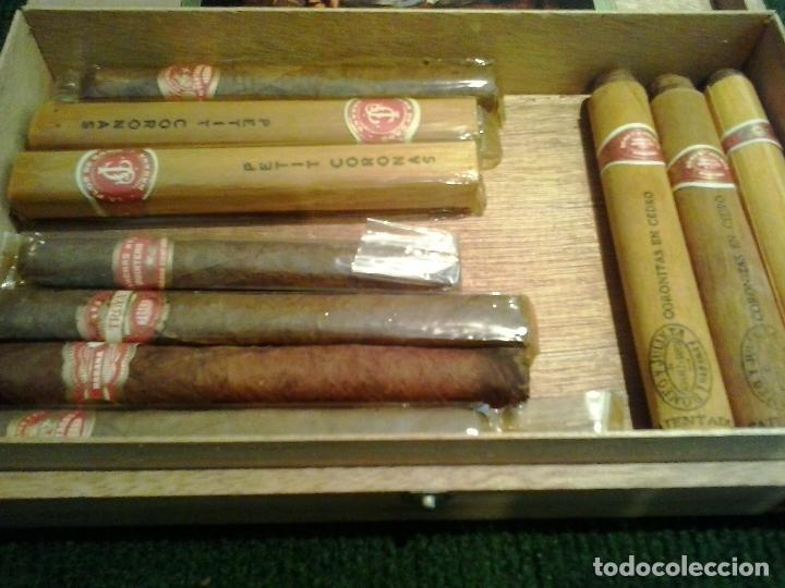 Cajas de Puros: Lote 10 puros Romeo y julieta ,Petit Coronas ,Troya Partagas Concha 1 Quintero - Foto 3 - 124846231