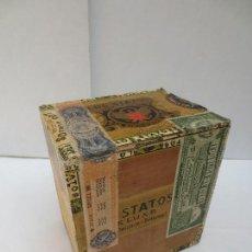 Cajas de Puros: CAJA DE PUROS - LOS STATOS DE LUXE - HABANA , CUBA - 100 DELIRIOS PETACAS - VACIA.. Lote 129423147