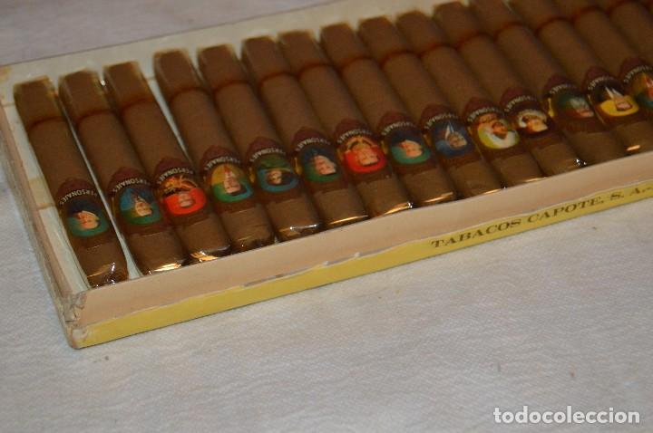 Cajas de Puros: VINTAGE - CAJA DE PUROS - PERSONAJES EL GRECO - ABIERTA - CON 23 PUROS - DE COLECCIÓN - ENVÍO 24H - Foto 11 - 126905751
