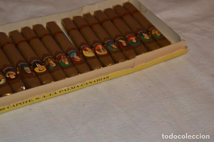 Cajas de Puros: VINTAGE - CAJA DE PUROS - PERSONAJES EL GRECO - ABIERTA - CON 23 PUROS - DE COLECCIÓN - ENVÍO 24H - Foto 12 - 126905751