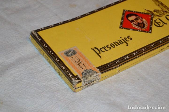 Cajas de Puros: VINTAGE - CAJA DE PUROS - PERSONAJES EL GRECO - ABIERTA - CON 23 PUROS - DE COLECCIÓN - ENVÍO 24H - Foto 18 - 126905751