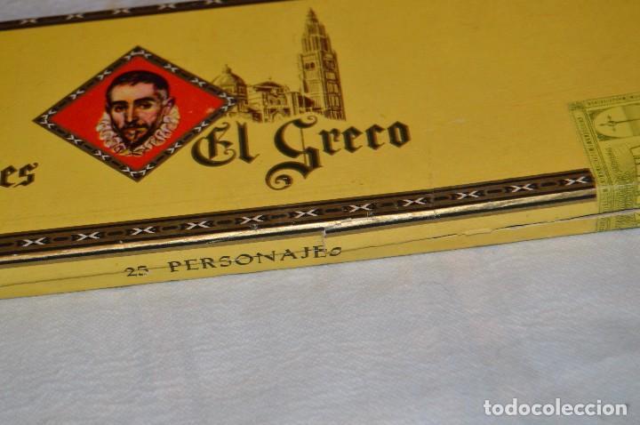 Cajas de Puros: VINTAGE - CAJA DE PUROS - PERSONAJES EL GRECO - ABIERTA - CON 23 PUROS - DE COLECCIÓN - ENVÍO 24H - Foto 19 - 126905751