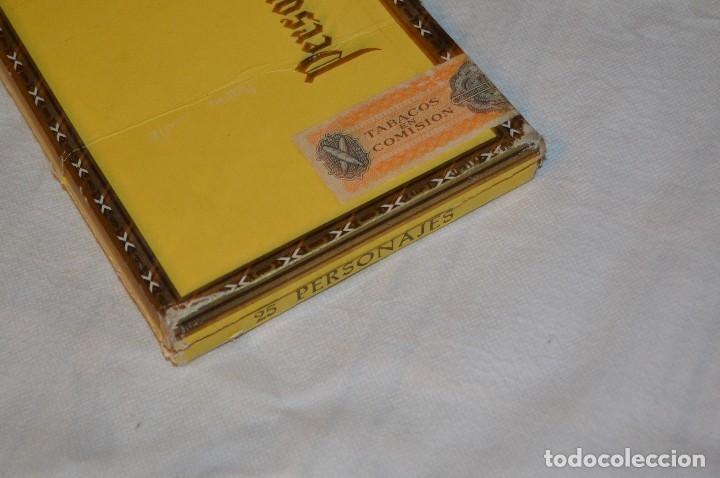 Cajas de Puros: VINTAGE - CAJA DE PUROS - PERSONAJES EL GRECO - ABIERTA - CON 23 PUROS - DE COLECCIÓN - ENVÍO 24H - Foto 24 - 126905751