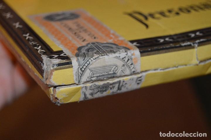 Cajas de Puros: VINTAGE - CAJA DE PUROS - PERSONAJES EL GRECO - ABIERTA - CON 23 PUROS - DE COLECCIÓN - ENVÍO 24H - Foto 25 - 126905751