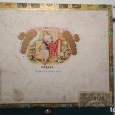 Cajas de Puros: CAJA DE MADERA VACIA DE PUROS ROMEO Y JULIETA DE ÁLVAREZ Y GARCÍA 10 CHURCHILLS LA HABANA VER FOTS. Lote 127799411
