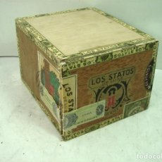 Cajas de Puros: ANTIGUA CAJA DE PUROS - LOA STATOS DE LUXE 100 DELIRIOS PETACAS - HABANA CUBA MADERA -TABACO HABANOS. Lote 127810891