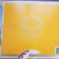 Cajas de Puros: ANTIGUA CAJA DE PUROS EL CETRO DE ORO HABANA CUBA. Lote 128381100