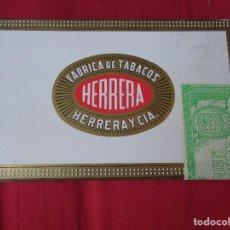 Cajas de Puros: CAJA DE PUROS HERRERA Y CIA -- 25 HERRERITAS --- PRECINTADA. Lote 128873167