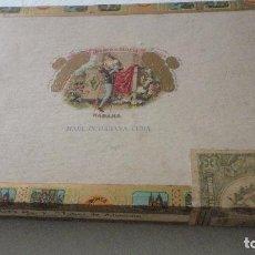 Cajas de Puros: ANTIGUA CAJA DE PUROS.TABACOS.ROMEO & JULIETA.10 ROMEO Nº 1.TUBOS ALUMINIO.HABANA CUBA.. Lote 128919235