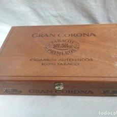 Cajas de Puros: CAJA DE PUROS DE MADERA VACIA GRAN CORONA 25 TUBOS TABACOS LA PAZ . Lote 129025055
