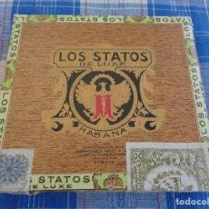 Cajas de Puros: CAJA DE PUROS STATOS DE LUXE CON 10 PUROS DE CUBA ( 3 STATOS - 5 FONSECA - 2 MONTECRISTO ). Lote 129524451