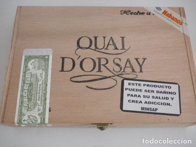 CAJA DE PUROS VACÍA - QUAI D'ORSAY - CORONAS - HABANOS (Coleccionismo - Objetos para Fumar - Cajas de Puros)