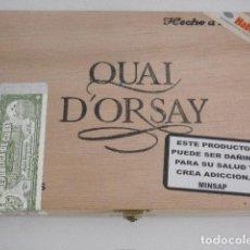 Cajas de Puros: CAJA DE PUROS VACÍA - QUAI D'ORSAY - CORONAS - HABANOS. Lote 130623122