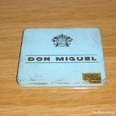 Cajas de Puros: CAJA METALICA DE PUROS DON MIGUEL.. Lote 130877012