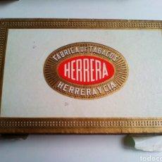 Cajas de Puros: CAJA VACIA DE PUROS HERRERA. 25 HERRERITAS. Lote 130942645