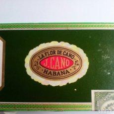 Cajas de Puros: CAJA DE PUROS LA FLOR DE CANO. J.CANO. LA HABANA. EN MADERA VACIA. Lote 130988392
