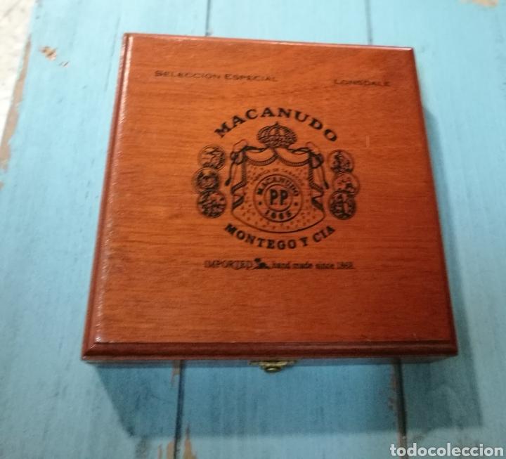 ANTIGUA CAJA DE PUROS MACANUDO (MONTEGA & CIA) JAMAICA (Coleccionismo - Objetos para Fumar - Cajas de Puros)