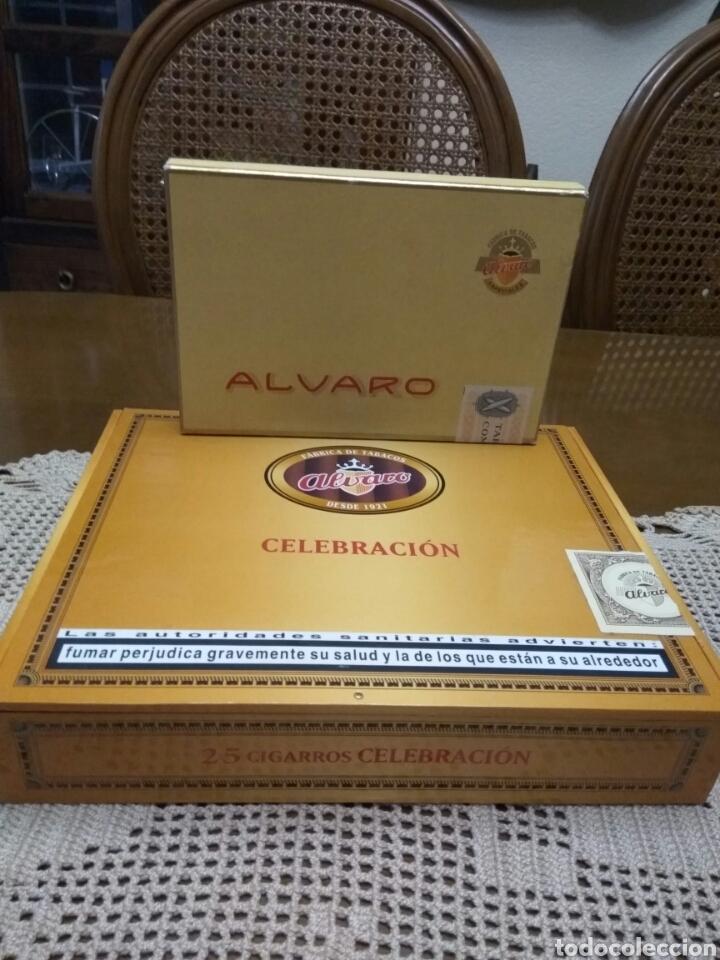PUROS ÁLVARO CELEBRACIÓN Y RANGER LOTE DE DOS CAJAS (Coleccionismo - Objetos para Fumar - Cajas de Puros)