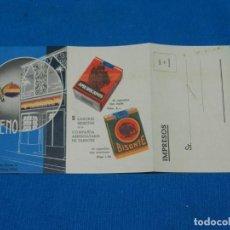 Cajas de Puros: PUBLICIDAD AÑOS 30 GIMENO - HABANOS COMPAÑIA ARRENDATARIA DE TABACOS , BANDERA REPUBLICANA. Lote 131780458