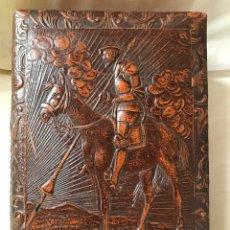 Cajas de Puros: CAJA TABACO CUERO REPUJADO. Lote 132211707
