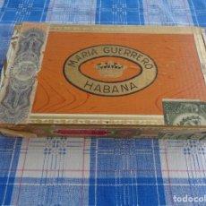 Cajas de Puros: CAJA PUROS MARIA GUERRERO -- HABANA -- CUBA -- 25 FAVORITAS EN CEDRO. Lote 132318318