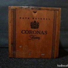 Cajas de Puros: ANTIGUA CAJA DE MADERA DE 50 CIGARROS PUROS CORONAS RESERVA CAPA NATURAL. VACIA. Lote 132462314