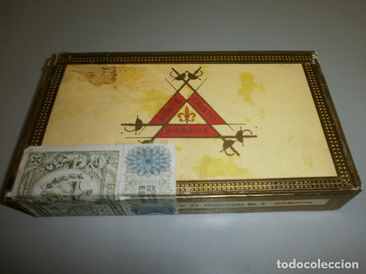 ANTIGUA CAJA DE PUROS HABANOS MONTECRISTO CAJA VACIA (Coleccionismo - Objetos para Fumar - Cajas de Puros)
