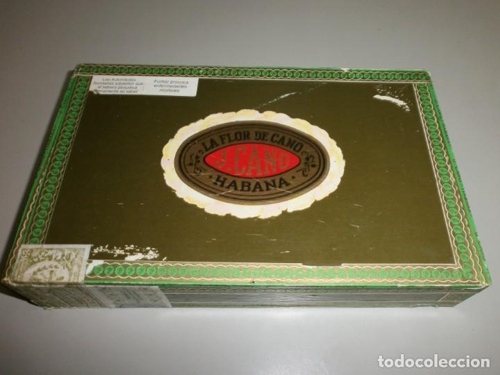 ANTIGUA CAJA DE PUROS HABANOS LA FLOR DEL CANO 25 PETIT CORONAS CAJA VACIA (Coleccionismo - Objetos para Fumar - Cajas de Puros)