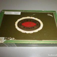 Cajas de Puros: ANTIGUA CAJA DE PUROS HABANOS LA FLOR DEL CANO 25 PETIT CORONAS CAJA VACIA. Lote 132906362