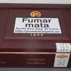 Cajas de Puros: CAJA EN MADERA TABACOS PLASENCIA RESERVA 1898.. Lote 133484662