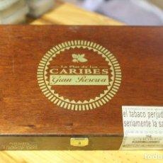 Cajas de Puros: CAJA DE PUROS LA FLOR DE LOS CARIBES. VACÍA. Lote 133529078