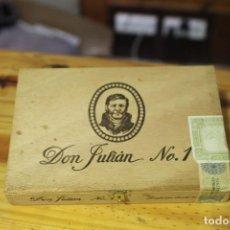 Cajas de Puros: CAJA DE PUROS DON JULIÁN. VACÍA. Lote 133529550