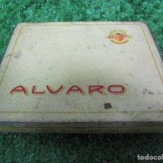 Cajas de Puros: CAJA METÁLICA VACIA PUROS ÁLVARO - DON ÁLVARO 10. Lote 133621446
