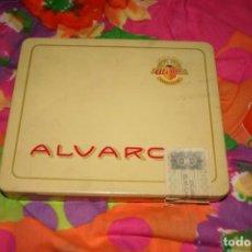 Cajas de Puros: CAJA METALICA DE PUROS ALVARO. Lote 133765382