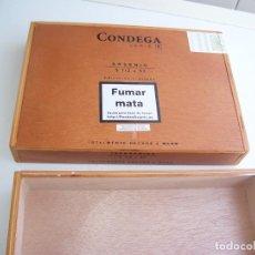 Cajas de Puros: 2 CAJAS DE PUROS VACIAS CONDEGA SERIE F ARSENIO 5 1/ X 52 NUEVAS REST ESTANCO!!!!. Lote 134391810