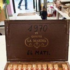 Cajas de Puros: CAJA DE PUROS LA MARINA 25 QUIJOTES AÑO 1970 LEER DESCRIPCIÓN. Lote 134548538