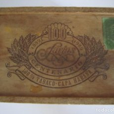 Cajas de Puros: CAJA FARIAS CENTENARIO VACIA 1889 1989 100% TABACO CAPA HABANA TABACALERA. Lote 134832726