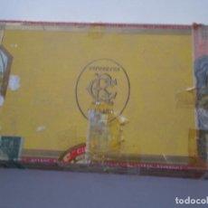 Cajas de Puros: CIFUENTES ANTIGUA CAJA DE PUROS 10 CRISTAL TUBO VACIA // RAMON CIFUENTES TABACOS HABANOS CUBA. Lote 134946666