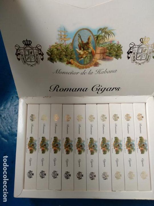 CAJA COMPLETA CON 20 PUROS MONSEÑOR DE LA HABANA ROMANA CIGARS 20 ESPECIALES C (Coleccionismo - Objetos para Fumar - Cajas de Puros)